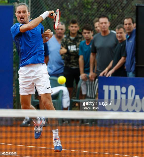 Alexandr Dolgopolov of Ukraine takes a forehand shot during a first round match between Alexandr Dolgopolov of Ukraine and Janko Tipsarevic of Serbia...