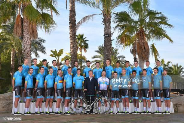 Alexandr Vinokurov of Kazakhstan General Manager of Astana Pro Team / Pello Bilbao Lopez De Armentia of Spain and Astana Pro Team / Zhandos...