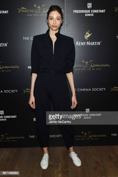 Alexandra Agoston attends a screening of 'Pirates Of The Caribbean Dead Men Tell No Tales' hosted by The Cinema Society at Crosby Street Hotel on May...