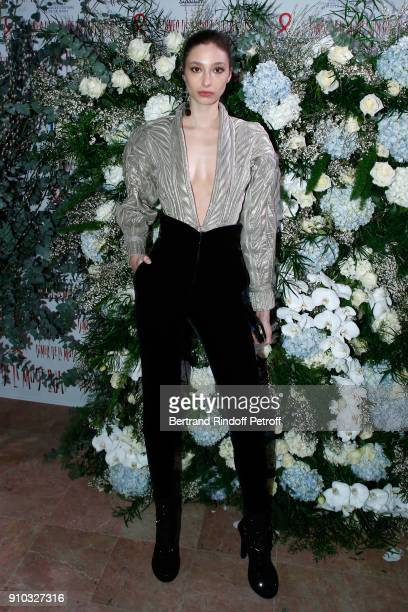 Alexandra Agoston attends the 16th Sidaction as part of Paris Fashion Week on January 25 2018 in Paris France