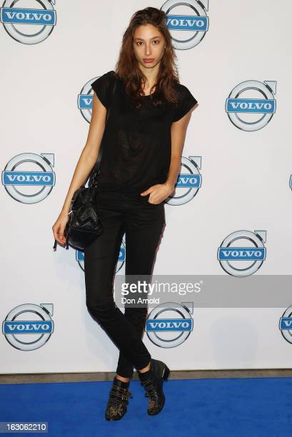 Alexandra Agoston attends the launch of the new Volvo V40 at Australian Technology Park on March 4 2013 in Sydney Australia