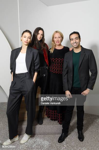 Alexandra Agoston Jacquelyn Jablonski Diana WidmaierPicasso and Mohammed Al Turki attend Mene 24 Karat Jewelry Presentation at Gagosian Gallery on...
