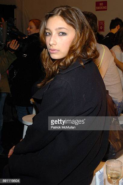 Alexandra AgostonO'Connor attends Jennifer Nicholson Fall 2005 Fashion Show at The Atelier at Bryant Park on February 8 2005 in New York City
