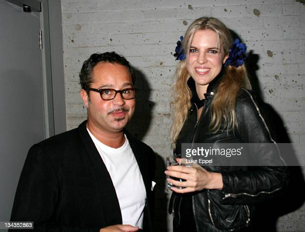 Alexandra Aitken and Guest attends the Established Sons Design Festival Party on September 19 2007 in London England