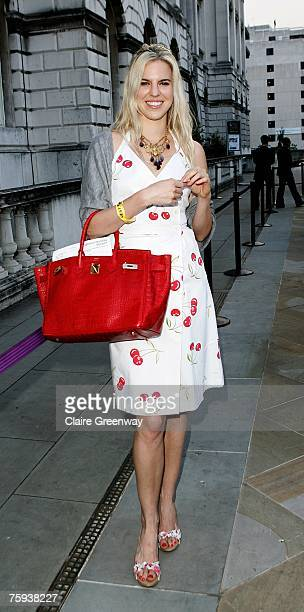 Alexandra Aitken attends a drinks reception on the opening night of the 'Film4 Summer Screen' event at Somerset House on August 2 2007 in London...