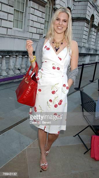Alexandra Aitken attends the Film4 Summer Screen Season at Somerset House on August 2 2007 in London England