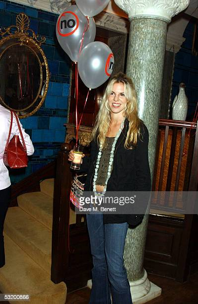 Alexandra Aitken attends the Say No To Europe Summer Party at Debenham House Holland Park on July 5 2005 in London England