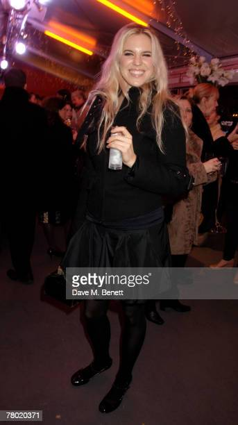 Alexandra Aitken attends the VIP opening of the Somerset House Ice Rink at Somerset House on November 20 2007 in London England