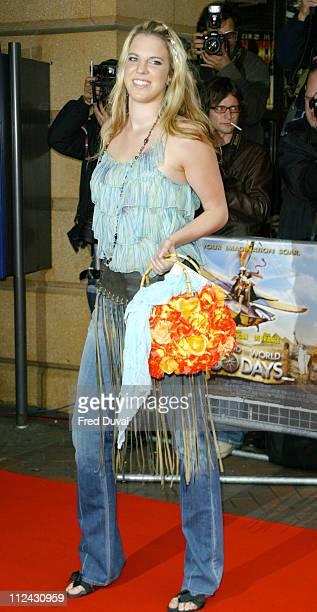 Alexandra Aitken during Around the World in 80 Days London Premiere at Vue Cinema in London Great Britain