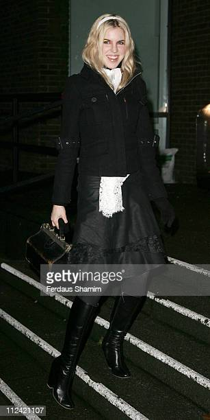 Alexandra Aitken during TAG Heuer Strength Beauty Exhibition Opening Night Party Outside Arrivals at Royal College of Art in London United Kingdom