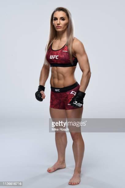 Alexandra Albu of Moldova poses for a portrait during a UFC photo session on February 14 2019 in Phoenix Arizona