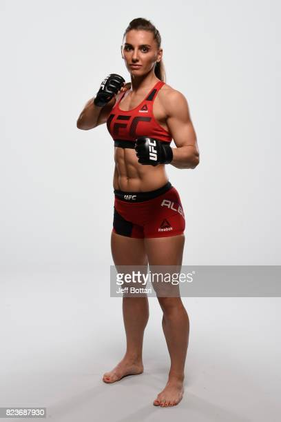 Alexandra Albu of Russia poses for a portrait during a UFC photo session on July 26 2017 in Cerritos California