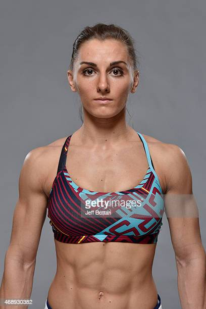 Alexandra Albu poses for a portrait during a UFC photo session at the Sheraton Krakow Hotel on April 8 2015 in Krakow Poland