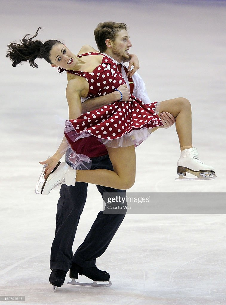 Alexandra Aldridge and Daniel Eaton of United States skate in the Ice Dance Short Dance during day 3 of the ISU World Junior Figure Skating Championships at Agora Arena on February 27, 2013 in Milan, Italy.