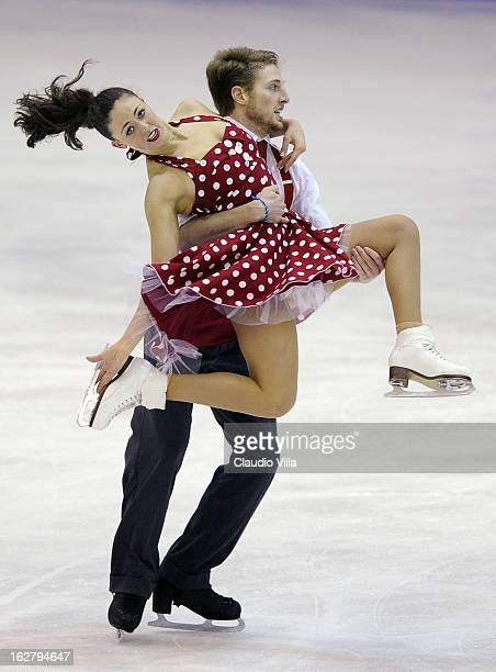Alexandra Aldridge and Daniel Eaton of United States skate in the Ice Dance Short Dance during day 3 of the ISU World Junior Figure Skating...