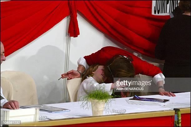 Alexandra and Caroline in Monaco on April 12 2003