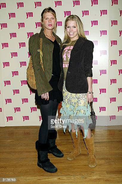 Alexandra and Theodora Richards arrive at the 5th Annual YM MTV Issue party at Spirit March 24 2004 in New York City