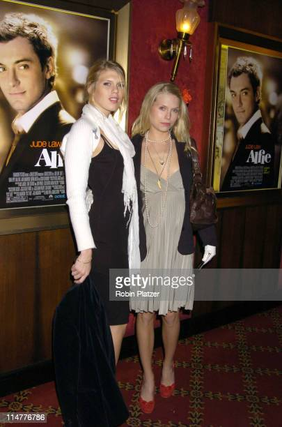 Alexandra and Theodora Richards during 'Alfie' New York Premiere Red Carpet Arrivals at Ziegfield Theater in New York City New York United States