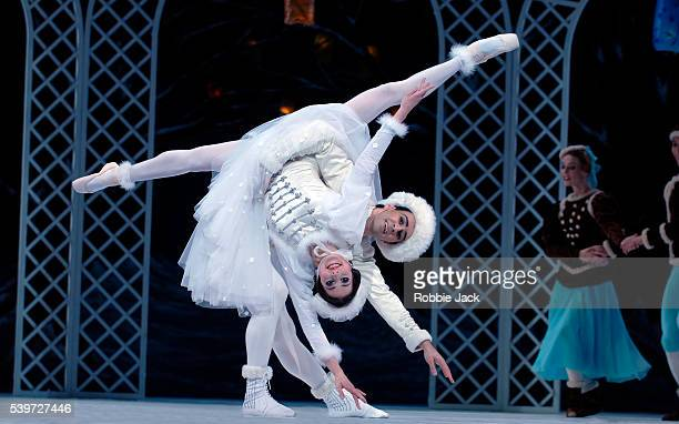 Alexandra Ansanelli and Valeri Hristov in the Royal Ballet's production Les Patineurs at the Royal Opera HouseCovent GardenLondon Copyright Robbie...