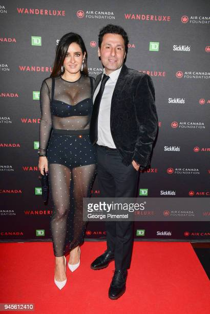 Alexandra Azouri and Joe Azouri attends Wanderluxe benefiting Air Canada And SickKids Foundationon held at Rebel on April 12 2018 in Toronto Canada