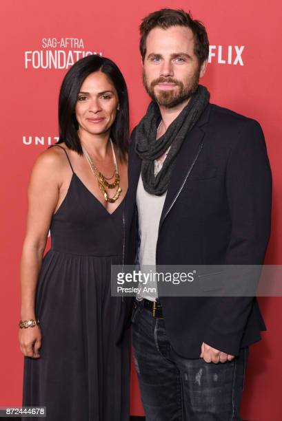Alexandra Barreto and Rider Strong attend SAGAFTRA Foundation Patron of the Artists Awards 2017 Arrivals at Wallis Annenberg Center for the...