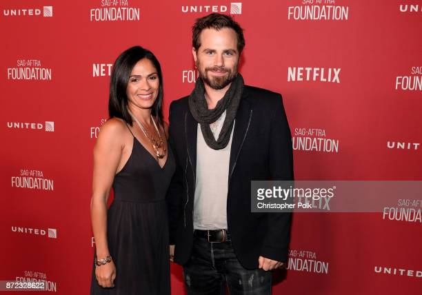 Alexandra Barreto and Rider Strong attend the SAGAFTRA Foundation Patron of the Artists Awards 2017 at the Wallis Annenberg Center for the Performing...