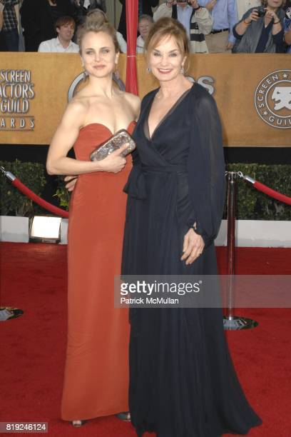 Alexandra Baryshnikov and Jessica Lange attend 16th Annual Screen Actors Guild Awards Arrivals at Shrine Auditorium on January 23 2010 in Los Angeles...