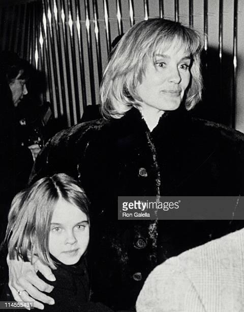 Alexandra Baryshnikov and Jessica Lange during Men Don't Leave Screening Party January 29 1990 at Regency Hotel in New York City New York United...