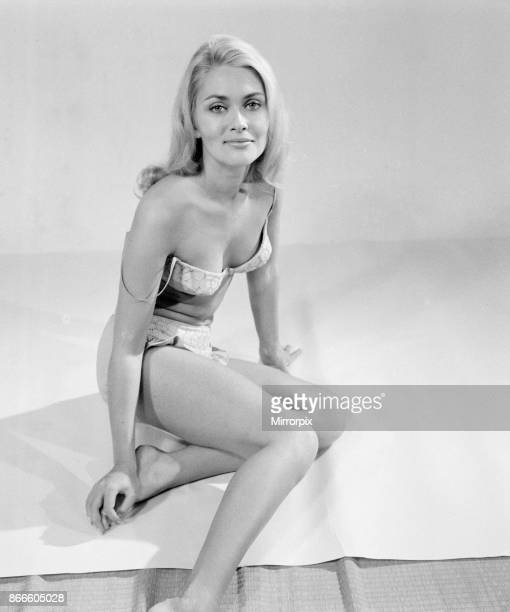 Alexandra Bastedo actress starts filming on latest film in Doctor series Doctor in Clover Nurse at Party later this week pictured in studio Thursday...
