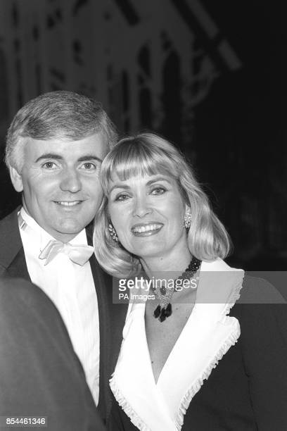 Alexandra Bastedo and Peter Marshall, presenters of the Miss United Kingdom contest at the Grosvenor House Hotel in London. The winner, Kirsty...