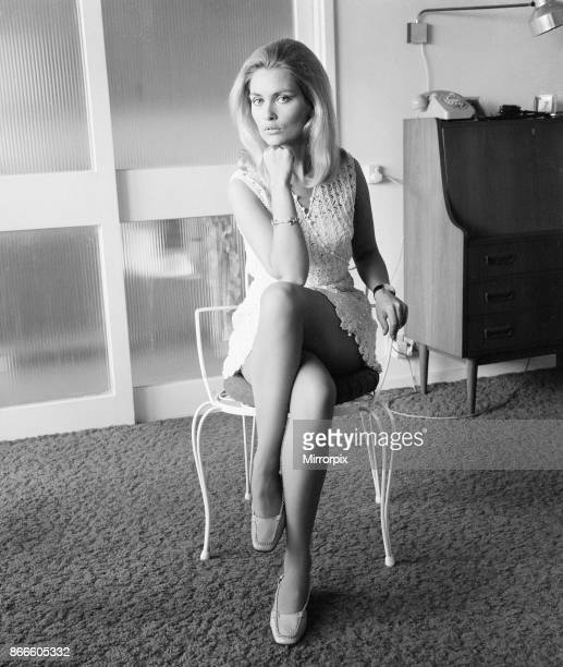 Alexandra Bastedo British actress in London Monday 27th May 1968 Alex will be in America next month on a tour to promote British espionage science...