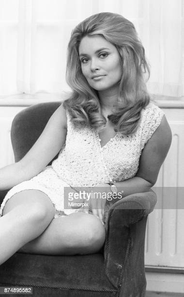 Alexandra Bastedo British actress pictured at home in London Friday 3rd January 1969 Alex plays the role of secret agent Sharron Macready in British...