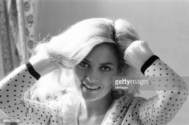 Alexandra Bastedo British actress pictured at home in London Thursday 4th November 1965