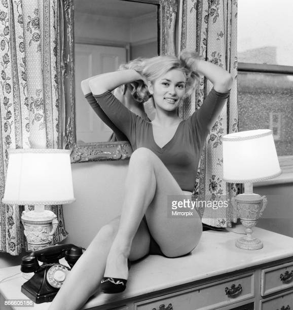 Alexandra Bastedo British actress pictured at home in London Thursday 9th December 1965 Alex will be making an appearance in new Morecambe and Wise...