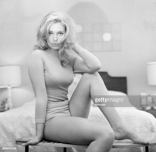 Alexandra Bastedo British actress pictured at home in Maida Vale London Tuesday 13th February 1968 Alex will be playing the role of secret agent...
