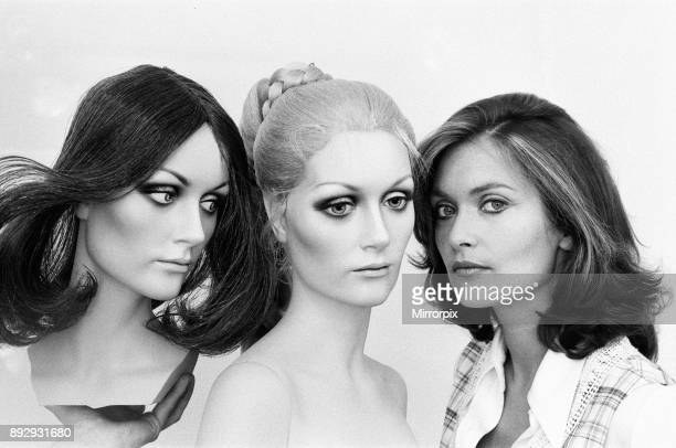 Alexandra Bastedo British actress who has been chosen to be the face for a new line of Mannequins being designed at a Washington County Durham...