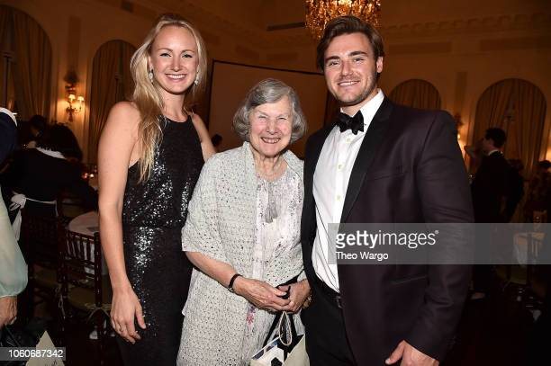 Alexandra Beckmeyer Caroline Lareuse and Sean Beckmeyer attend the 2018 American Friends of Blerancourt Dinner on November 9 2018 in New York City