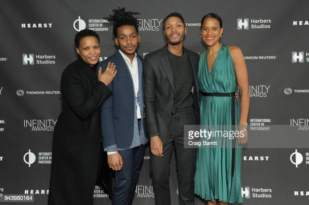 Alexandra Bell Antwaun Sargent and Isolde Brielmaier attend the International Center Of Photography's 2018 Infinity Awards on April 9 2018 in New...