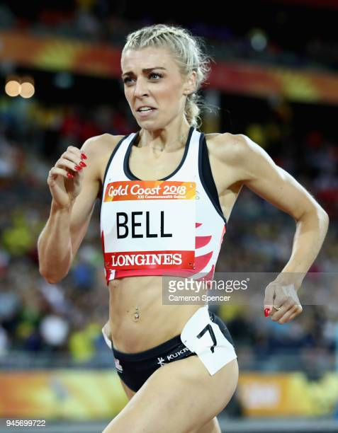 Alexandra Bell of England competes in the Women's 800 metres final during athletics on day nine of the Gold Coast 2018 Commonwealth Games at Carrara...