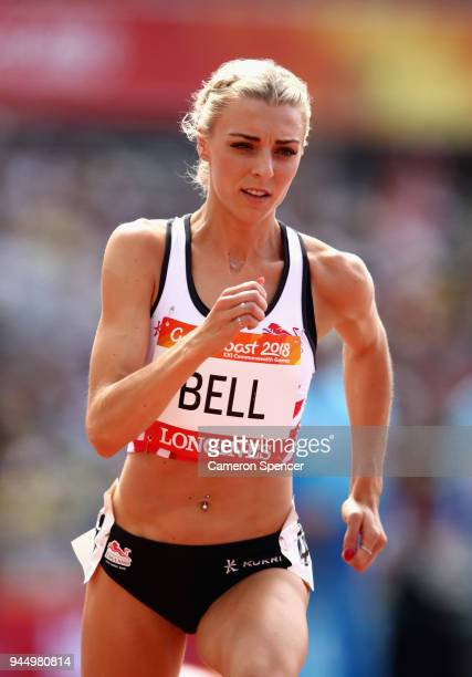 Alexandra Bell of England competes in the Women's 800 metres heats during athletics on day eight of the Gold Coast 2018 Commonwealth Games at Carrara...