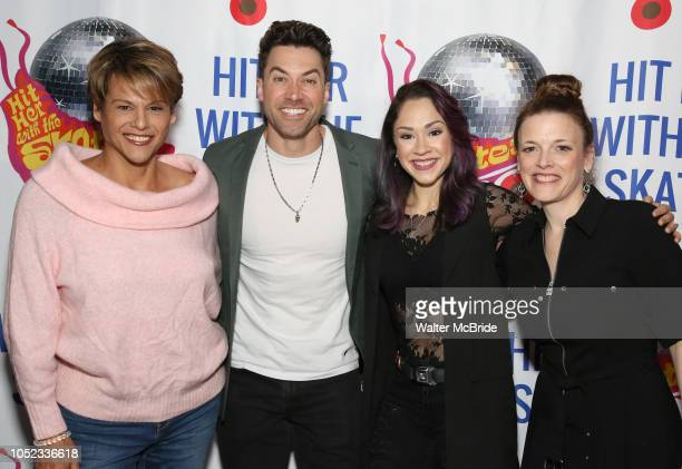 Alexandra Billings Ace Young Diana DeGarmo and Christine Rea attend the Meet the Cast of 'Hit Her WithThe Skates' at the Bowlmor Times Square on...
