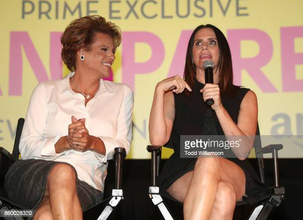 Alexandra Billings and Amy Landecker attend an Amazon Prime Exclusive Series Transparent Season 4 SAG Screening on October 10 2017 in Los Angeles...