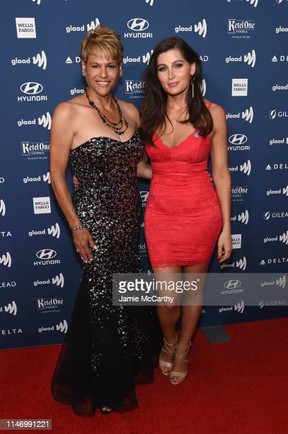 Alexandra Billings and Trace Lysette attends the 30th Annual GLAAD Media Awards New York at New York Hilton Midtown on May 04 2019 in New York City