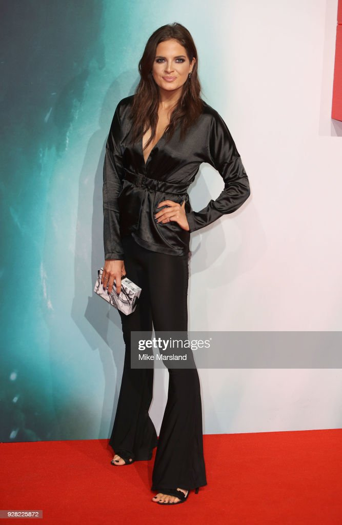 Alexandra ' Binky' Felstead attends the European premiere of 'Tomb Raider' at Vue West End on March 6, 2018 in London, England.