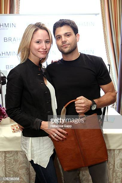 Alexandra Blodgett and Jerry Ferrara attend the HBO Luxury Lounge in honor of the 63rd Primetime Emmy Awards held at The Four Seasons Hotel on...