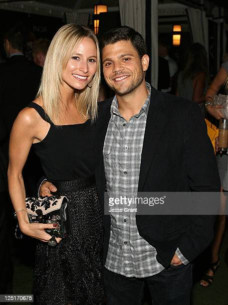 Alexandra Blodgett and Jerry Ferrara attend the Los Angeles Confidential and The Art of Elysium Celebration of The 2011 Emmys at The London on...