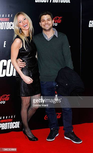 Alexandra Blodgett and Jerry Ferrara attend the 'Mission Impossible Ghost Protocol' US premiere at the Ziegfeld Theatre on December 19 2011 in New...