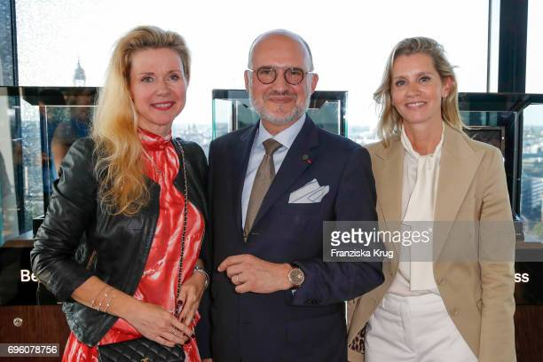 Alexandra Blohm Becker Jeweler Carlos Rosillo founder and CEO of Bell Ross and Claudia Gerlach attend the Bell Ross Cocktail Party at Elbphilharmonie...