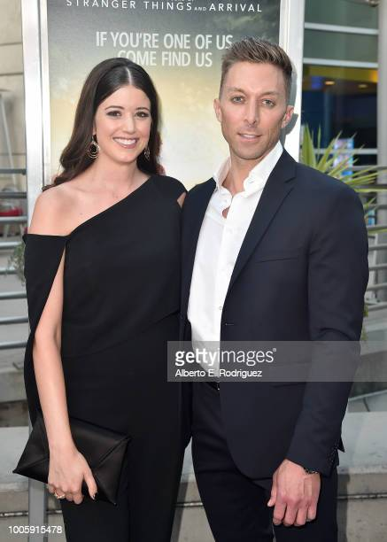 Alexandra Bracken and Chad Hodge attend a screening of 20th Century Fox's 'Darkest Minds' at ArcLight Hollywood on July 26 2018 in Hollywood...