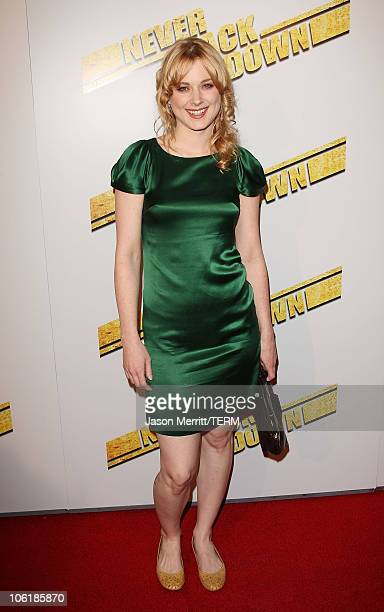Alexandra Breckenridge arrives at the premiere of Summit Entertainment's 'Never Back Down' at the Cinerama Dome on March 4 2008 in Hollywood...